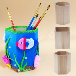 Creative Multi-function Creative Bamboo Made Desk Stationery Organizer Pen Pencil Holder Storage Box Case Square Container