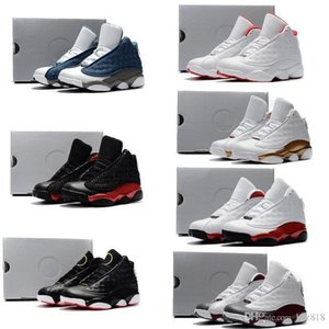 Hot sell Cheap kids Jumpman 13 XIII basketball shoes Black White Red Blue Boys Girls Youth air flights sneakers