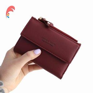 Fashion Women's Purse Thin Zipper Women's Wallet Ladies PU Leather Wallets Female Purse Mini Card Case Cheap Womens Wallets