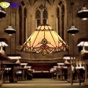 Lampada a sospensione FUMAT Tiffany Lampada a sospensione a LED in vetro colorato Illuminazione a sospensione Lampade a sospensione