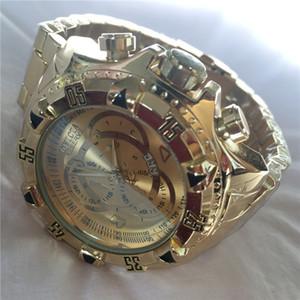 INVICTA COSC suíço Muito grande rotação de super marcação qualidade relógio de aço de tungstênio de Homens multifunções ouro relógio de quartzo