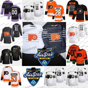 11 Travis Konecny 2020 All Star Philadelphia Flyers Samuel Morin Jakub Vorace Claude Giroux Carter Hart Sean Couturier Ivan Provorov Jersey