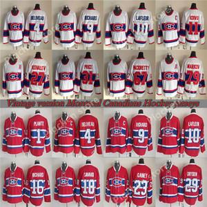 31 PREÇO Jersey 4 Beliveau 9 RICHARD 10 LAFLEUR 29 DRYDEN 79 MARKOV 11 Koivu CCM Hockey Montreal Canadiens Reminiscência retro camisola Vintage