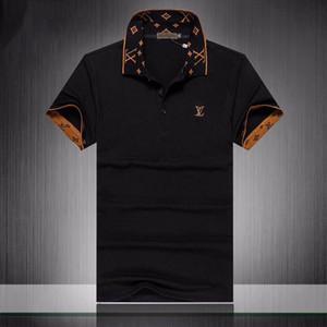 Luxe Mens Designer Polo T-shirts manches courtes d'été vers le bas col Turn manches courtes Tops Polos