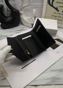 2020 cuero auténtico lujo multicolor Ys corto y largo bolso código de fecha de la cartera de caviar tarjeta de bolsillo cerrojo hombre mujer sostenedor del monedero clásico de la marca