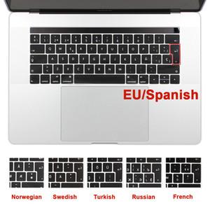 UE EE. UU. Español árabe francés alemán cubierta del teclado para MacBook air pro 11 12 13 15 pulgadas A1369 A1466 A1708 A1278 A1465