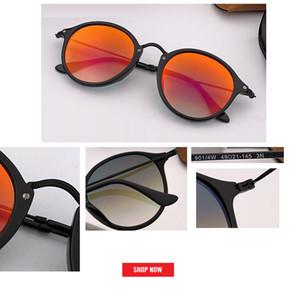 2019 venta superior gafas de Sol Redondas Mujeres Diseñador de Marca uv400 Retro Sunglass espejo de Conducción Mujeres Señora Hombres Mujer gafas de sol gradiente gafas 2447
