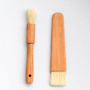 Wooden Kitchen Oil Brushes Basting Brush Wood Handle BBQ Grill Pastry Brush Baking Cooking Tool Butter Honey Sauce Brush Bakeware DBC BH3472