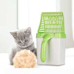 B Useful Cat Litter Shovel Pet Cleanning Tool Plastic Scoop Cat Sand Cleaning Products Toilet For Dog Food Spoons litter scoop