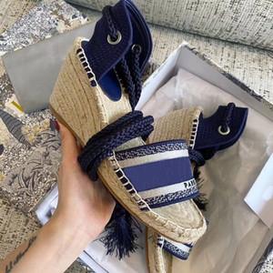 2020 mode chaussures de luxe de style design de mode sandales compensées fond épais été hauts talons de la cheville pêcheur clan bohème roman styl