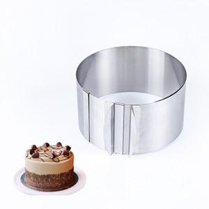 قابل للتعديل موس الدائري 3D جولة مربع كعكة قوالب الفولاذ المقاوم للصدأ قوالب الخبز أدوات تزيين الكعكة الخبز الملحقات