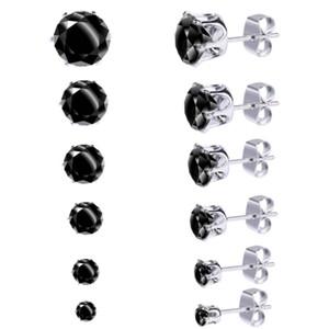 Women's Luxury Fashion Jewelry Designer Earrings zircon Crystal Diamond Womens Stud Earring 6 pairs of small earrings set