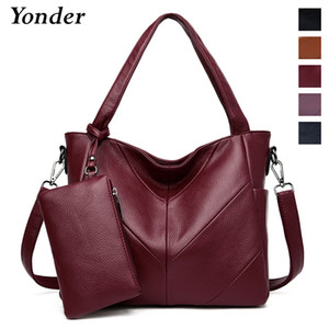 Yonder china hand bags ladies genuine leather handbags women's 2020 fashion tote messenger shoulder bag female