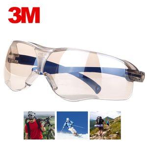 3M 10436 سلامة النظارات المضادة للصدمة PC عدسة نظارات مكافحة دفقة المضادة للأشعة فوق البنفسجية صامد للريح ركوب الخيل واقية نظارات شمسية العمل