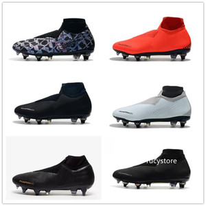 2019 Phantom VSN Elite DF SG-Pro Anti Clog Mens Soccer Shoes High Heel Soccer Cleats World Cup Men Designer Football Boots Tacos De Futbol