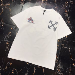 2020 new tee 3D mechanical Mickey print loose fit Mens Designer T Shirts Black White Red Mens Fashion Designer T Shirts Top Short Sleeve