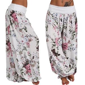 Женские брюки CAPRIS 2021 Женщины Повседневная Винтаж Печатные Летние Свободные Гарем Женский Большой Размер Пляж Широкие брюки