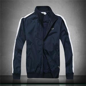 Nouveau printemps et en été manteau chaud de haute qualité conçu designer veste hommes col montant veste à rayures hommes mode casual noir et bleu