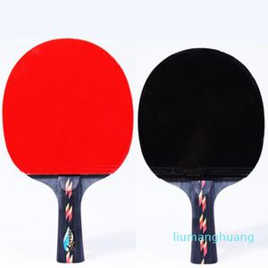 Langer Griff schüttelt Hand Grip Tischtennisschläger Ping-Pong Paddel Pickel In Gummi Ping Pong-Schläger mit Schlägern POUCH