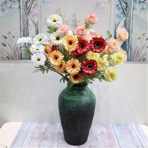 """Sahte Ayçiçeği (6 kafaları / adet) Düğün Ev Vitrin Dekoratif Yapay Çiçekler için 23,62"""" Uzunluk Simülasyon Sun Flower"""
