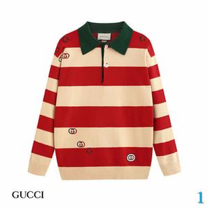 Maglione Designer nuovo modo per delle donne degli uomini d'autunno di marca maglioni con collo di modo del risvolto degli uomini maglioni con le lettere delle parti superiori dei vestiti S-2XL 1