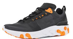 Yüksek Kalite Mens Eleman React Erkek Koşu Ayakkabı için 55 Koşu Ayakkabıları Erkekler Sneakers Bayan Sneaker Kadın Eğitmenler Erkek Atletik Chaussures