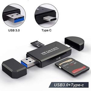 OTG مايكرو sd قارئ بطاقة USB 3.0 قارئ بطاقة 2.0 ل USB مايكرو SD محول فلاش محرك أقراص ذاكرة الذكية بطاقة القارئ نوع C CardReader