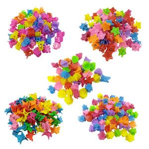 100pcs / sürü Karışık Renkler Çocuk Kız Butik Mini Kalp Pençe kelebek Şekil Saç Klipler Sevimli Tokalarım Saç Aksesuarları Ücretsiz Kargo