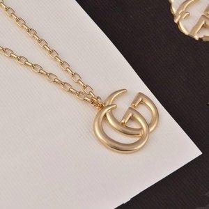hot sale luxury jewelry women Letter G designer Pendant necklace high-end version elegant gold chain for men necklaces couple fashion style