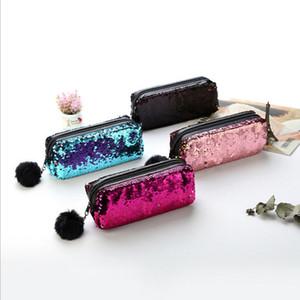Новые женщины сумка Прекрасные Русалка пришивания Блеск косметичка для Lady Pencil Box Макияж Дело Популярные моды высокого качества Довольно