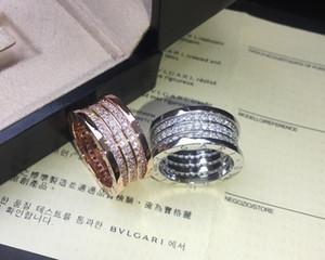 2019 Mais recente modelo feminino anel moda encantadora Elegante bonito Simples suave Três anéis broca completa