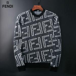 lazer luxo carta tricô camisola dos homens novos dos homens novos camisola Europeu e tendência marca de moda americano camisola logística gratuitos M-XXXL