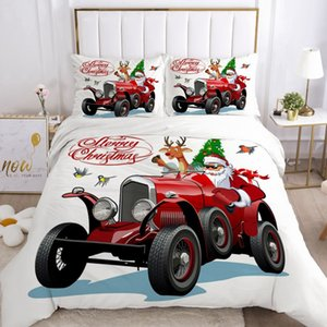 Duvet Cover Set EUR UK Cartoon Bedding Sets for Kids Baby Children Blanket Quilt Cover Bed Linings Christmas Car Santa Claus