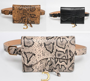 ГОРЯЧАЯ Известный дизайнер моды женщин роскошь мешок 2019 новая модель змея тактическая дамы ремень кулон сумка седло тонкий ремень кошелек сумка мотоцикл