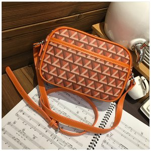 (Hong Kong contador Direct Mail] saco de câmera de luxo ombro couro do couro pequeno saco quadrado homens e mulheres Moda Messenger bag