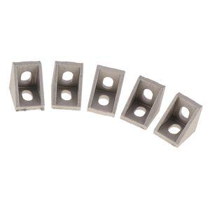 5 pezzi di metallo Profilo d'angolo staffa di supporto a L Angolo Brace comune Gusset