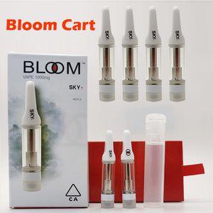 Seksi BLOOM Kartuşları 0.8ml 510 Konu Vape Kartuş Vida On Ağızlık Boş Seramik Bobin Vape Sepeti PVC Tüpleri ile Kalın Yağı Atomizörlerin