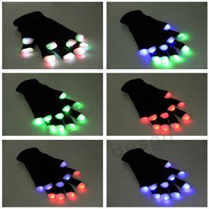 Halloween Weihnachten LED-Handschuh-Partei Glow Handschuhe Konzert Noctilucent Luminous Handschuhe Vollfinger-Handschuh Light Up Flash-Glove Geschenk DBC BH2890