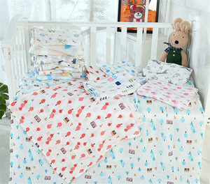 Infant Muslin Double Layer Blanket Baby Newborn Swaddle Wrap Stroller Cover Cartoon Animal Floral Letters Print Crawling Beach Towels LY224