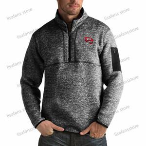 Western Kentucky Hilltoppers пуловер Кофты мужские Форчун Big Tall Quarter-Zip Pullover Жакеты прошитой Американский футбол Спорт Hood