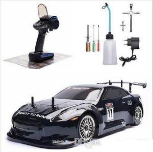 RC Car 4wd 01.10 On Road Racing Two Speed Drift Fahrzeug Spielzeug 4x4 Nitro Gas Power High Speed Hobby Fernsteuerungsauto-