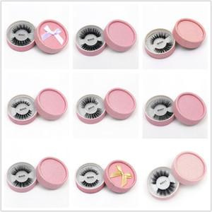 3D 가짜 밍크 속눈썹 거짓 밍크 속눈썹 3D 실크 단백질은 100 % 수제 천연 가짜 눈 속눈썹 선물 상자 (24) 스타일을 속눈썹