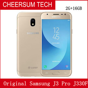 "Original Samsung Galaxy J3 Pro SM-J330F 4G LTE telefone móvel Snapdragon 410 Quad Core Dual SIM 5.0"" 8.0MP NFC Smartphone"