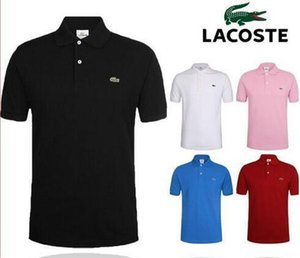 Del diseñador del Mens Polos Marca pequeño caballo de ropa cocodrilo bordado de los hombres de la tela carta camiseta del polo de la camiseta del collar ocasional camiseta tops C6
