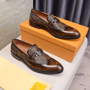 Style européen à la main en cuir véritable Homme Brown Monk Bracelet Chaussures formelles de bureau Robe de mariée d'affaires Mocassins da uomo Scarpe in pelle