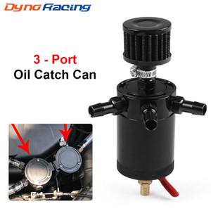 Oil Catch Can réservoir 2 Port avec l'huile amovible Valve Séparateur Air Racing Universal Baffled