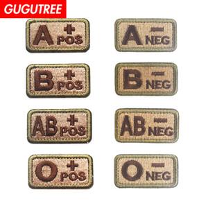 GUGUTREE HOOkLOOP patch gruppo sanguigno ricamo patch militari badge patch applique per l'abbigliamento SP-542
