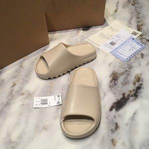 2020 Lasten Folien Foam Runner Knochen EVA Slippers Luxusmode-Designer Männer Sandale Strand beiläufig Schuhe Kühlen breites flaches Mules mit Box