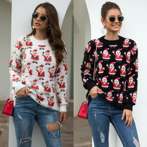 Frauen Langarm-Sweatshirt Pullover Tops Kapuzenpullover Weihnachtspullover