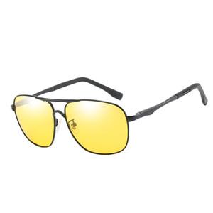 Caixa dos homens das mulheres óculos de sol dos homens moda óculos de sol high-end motorista night vision óculos de sol dia e noite dual-uso óculos de condução